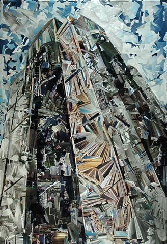 """The Tower"" - Photo Collage by Vashon artist John Schuh."