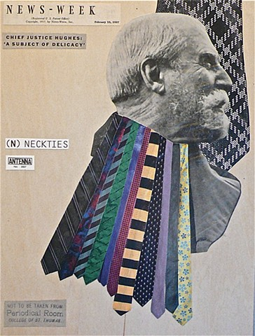 (N) NECKTIES - Collage by Vashon artist John Schuh.