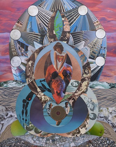 """Generosity"" - Collage by Vashon Artist John Schuh."