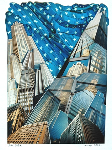 """Chicago Stars"" - Photo Collage by Vashon artist John Schuh."