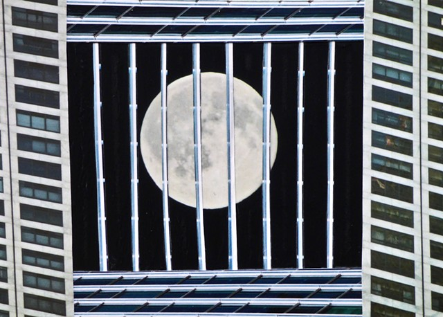"""Prisoner's Moon"" - Photo Collage by Vashon Artist John Schuh"