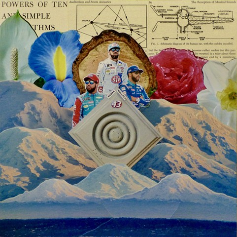 """Three Bubbas"" - Collage by Vashon Artist John Schuh"
