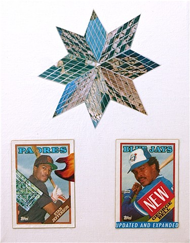 Three Stars - Collage by Vashon artist John Schuh.