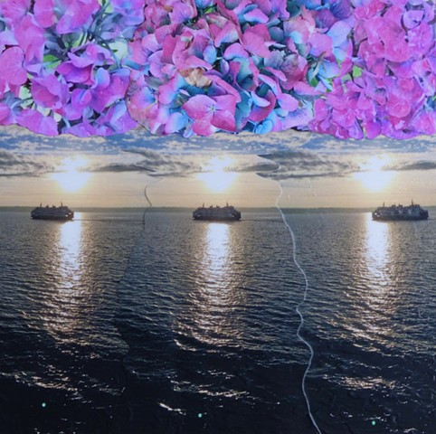 """Three Suns"" - Photo Collage by Vashon Artist John Schuh"