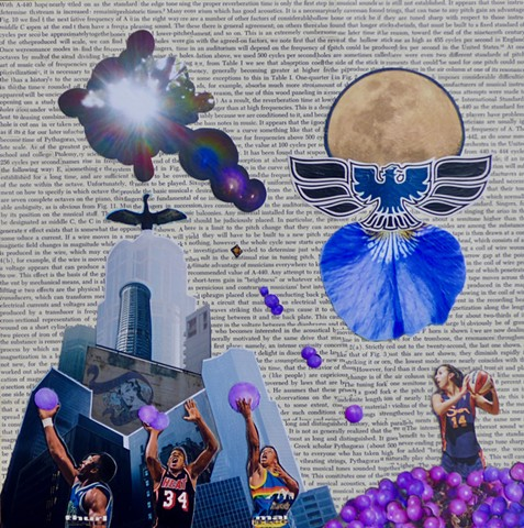 """time is only the first step"" - Collage by Vashon Artist John Schuh"