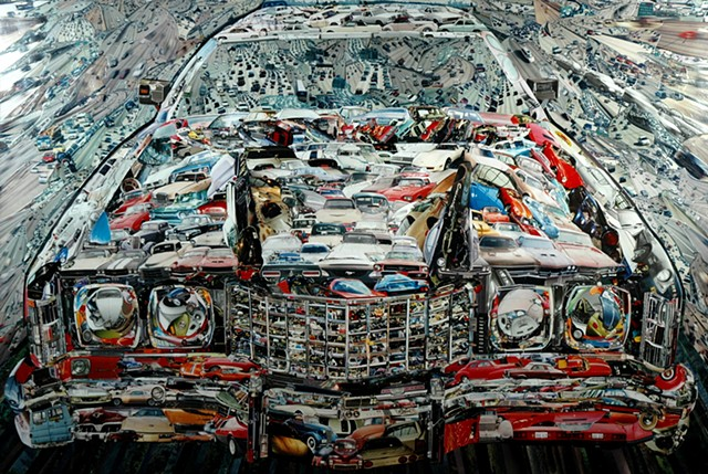 """The Car"" - Photo Collage by Vashon artist John Schuh."