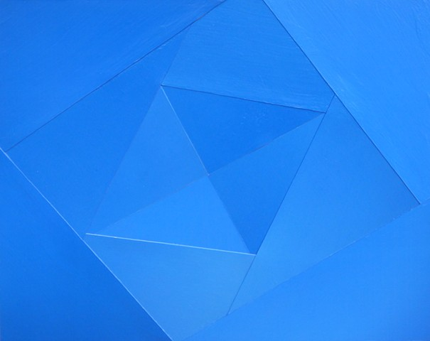 """Sky Blue Diamond"" - Photo Collage by Vashon Artist John Schuh."