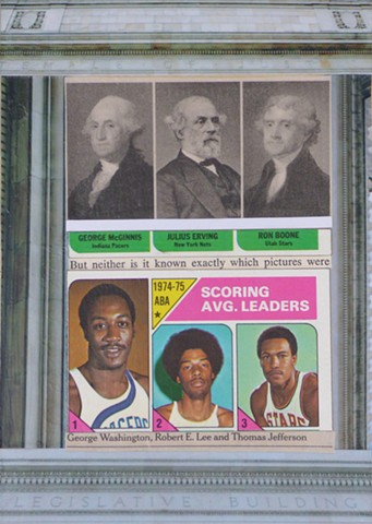 """SCORING LEADERS"" - Collage by Vashon Artist John Schuh"