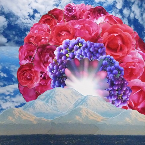 """Roses Rising"" - Photo Collage by Vashon Artist John Schuh"