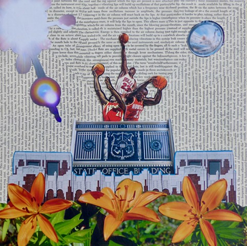 """Energy is then supplied"" - Collage by Vashon Artist John Schuh"