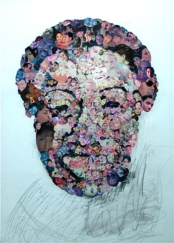 """The Head"" - Collage by Vashon artist John Schuh."
