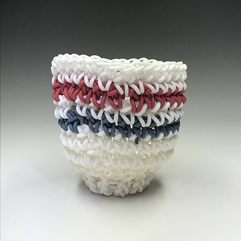 White, Red, & Blue Athletic Sock Stripes