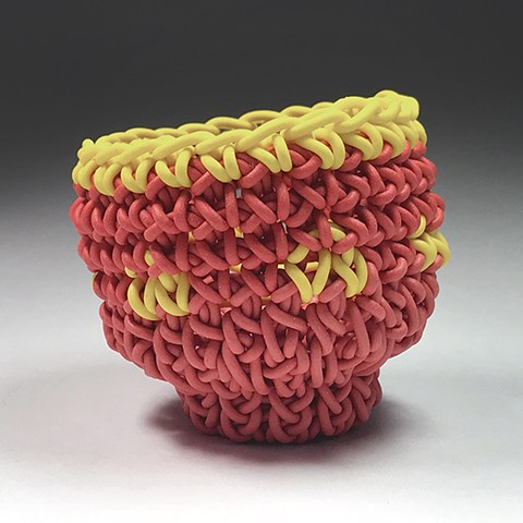 Knit and Crocheted Ceramic Tea Bowls