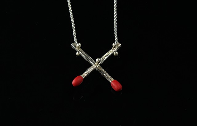 Cross Fire Necklace