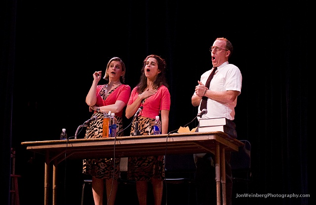 Rebecca Feldman, Liz Feldman& Jay Reiss showing off their stuff