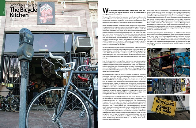 Bicycle Kitchen Feature