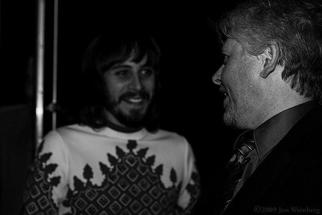 Dave Foley & Pop Levi backstage