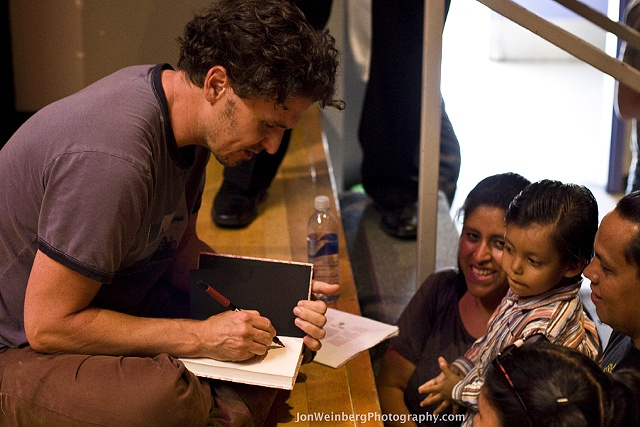 Dave Eggers signing away