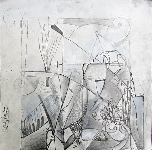 contemporary drawing abstract still life