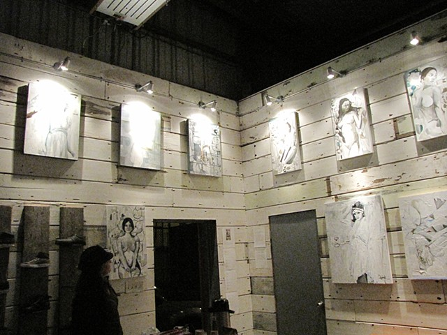 """New Paintings"" at Mission Workshop, 2010"