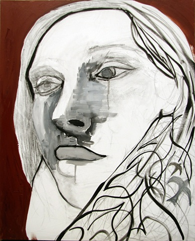 portraits, drawings, paintings, birds, contemporary art, contemporary paintings, surrealism