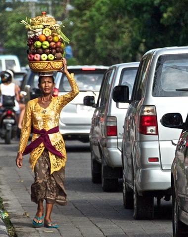 Traffic in Ubud