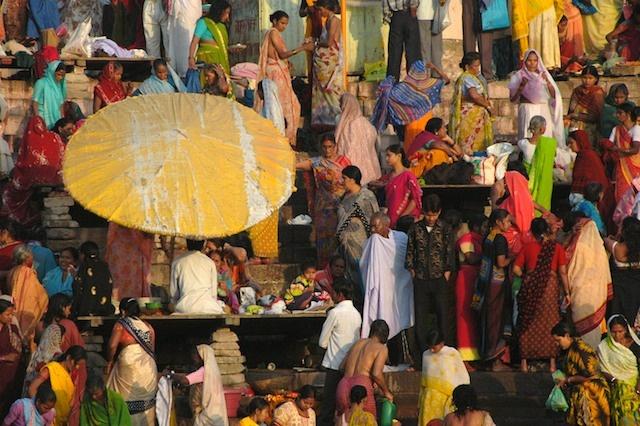 Yellow Umbrella,  Varanasi