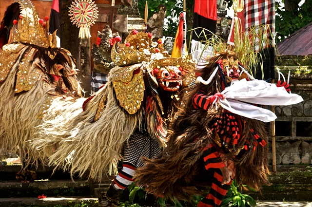 Barong and Ragda in Their Eternal Battle