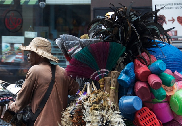 The Broom Seller in Ubud, Bali