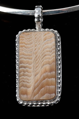 013 Petrified Wood with Sterling