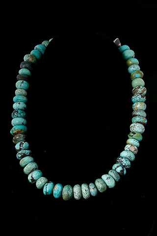 001 Antique Turquoise Bead Necklace