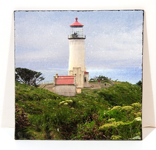 Lighthouse,  Pacific Co, WA  Image Transfer on Canvas