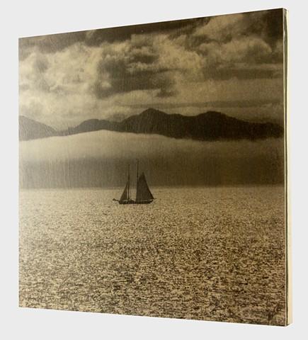 Before the Evening Mist.  Platinum Palladium Hand Printed on Cradled Birch Wood