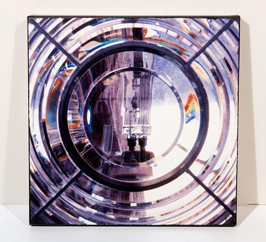 Fresnel Lens, Grey's Harbor Lighthouse, Westport, WA  Image Transfer Print on Canvas