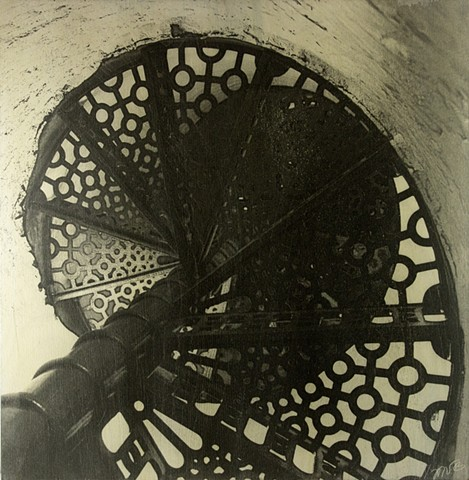 Spiral Stairs, Fisgard Lighthouse, Victoria, BC