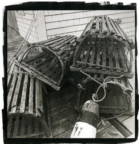 Lobster Pots, Cape Breton, Prince Edward Island, Seascape