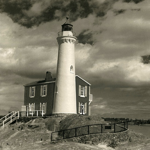 Platinum/Palladium Print from a Digital Negative, Lighthouse