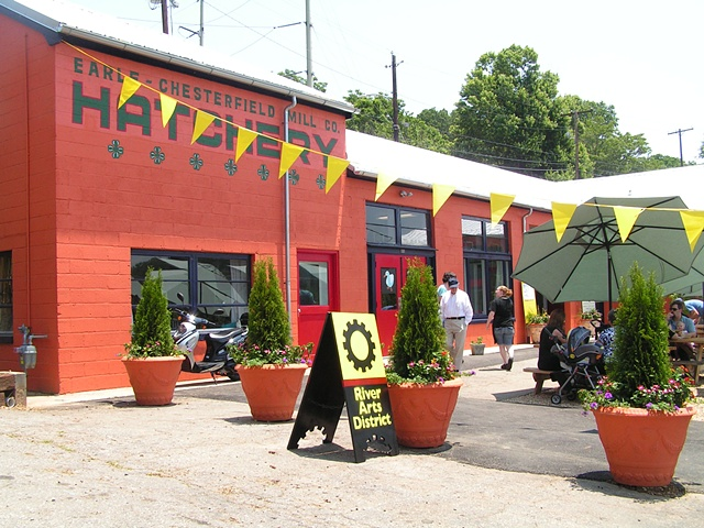 My wonderful building, Hatchery Studios in the River Arts District of Asheville, NC