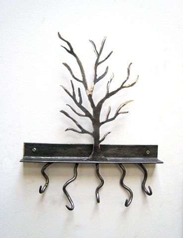 hook art steel metal art tree