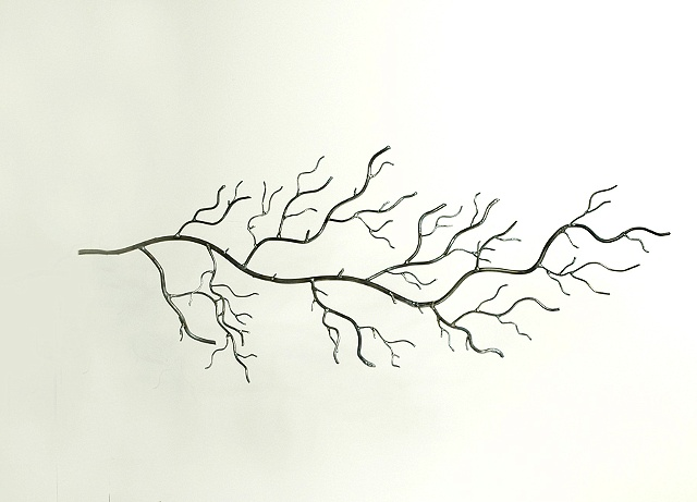 wall art steel stree branch recycled metal