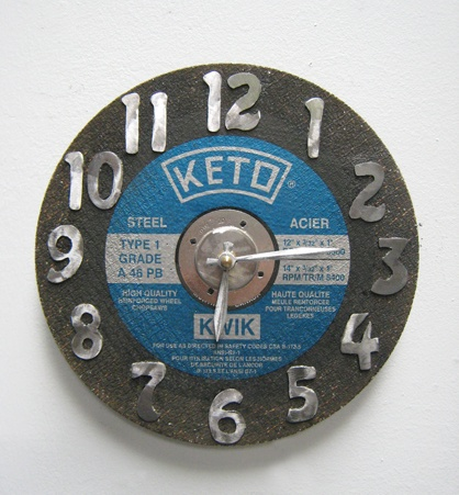Cut Off Wheel Clock