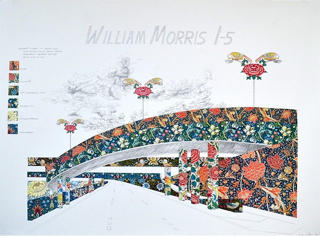 william morris, wallpaper, Seattle, public art proposal
