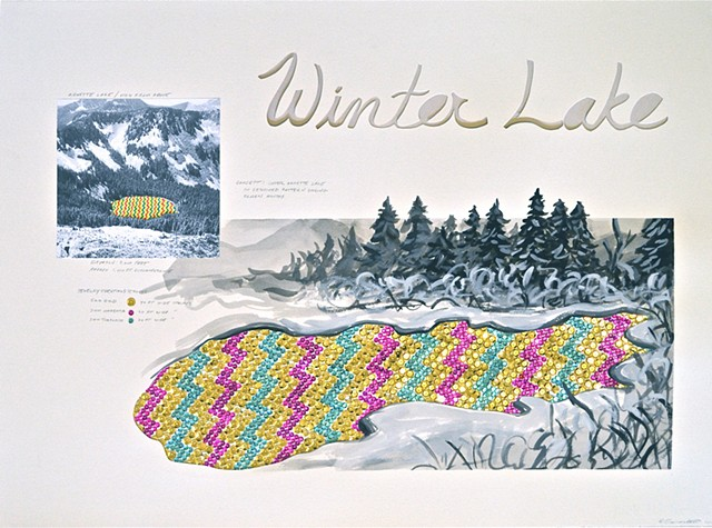 sequins, public art proposal, Annette Lake