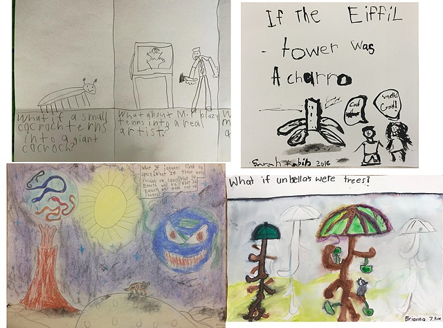"""If"" drawings, 2nd grade, various schools"