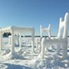 Ice & Snow Furniture Raised From Lake Mendota
