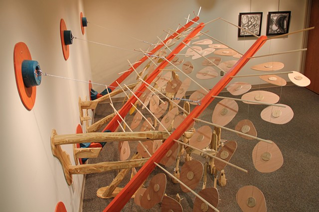 A Skittish Crossing is an installation by Matthew Stemler at Waynesburg University's Benedum Fine Arts Gallery