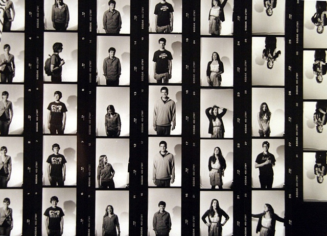 "Contact sheet for ""The Voice""portrait series"