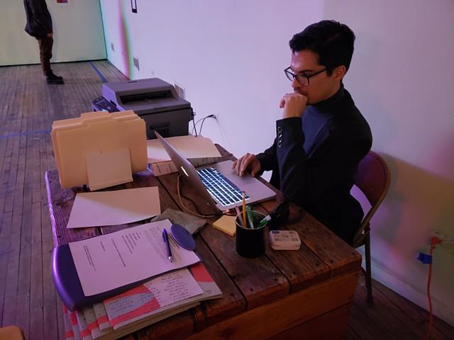 Receptionist Luis Raul Lopez Levi