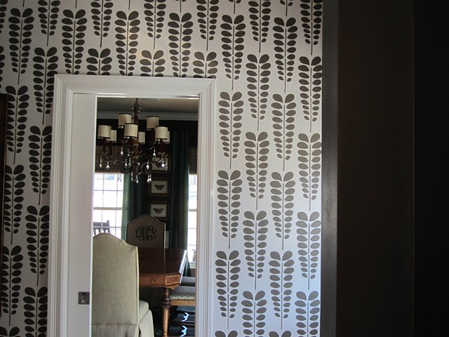 Acacia pattern in mudroom.