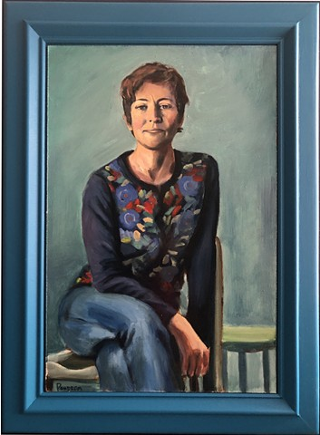 Sittiing oil Portrait